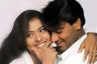 Ajay devgan and kajol cute pic